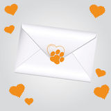 Amour d'animal de lettre Images stock