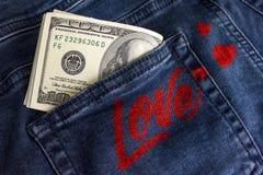 Amour d'argent Images stock