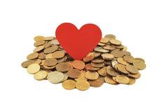 Amour d'argent Photos stock