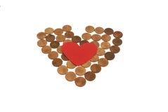 Amour d'argent Image stock