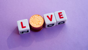 Amour d'argent Photographie stock
