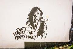 Amour d'art de rue Image libre de droits