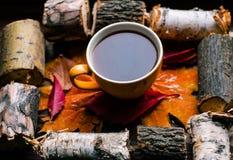 Amour d'automne au café Photographie stock