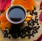 Amour d'automne pour le café Photos stock