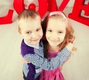 Amour d'enfants Images libres de droits