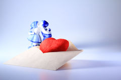 Amour d'enveloppe Image stock