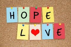 Amour d'espoir Photo stock