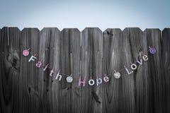 Amour d'espoir de foi Image stock