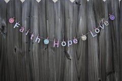 Amour d'espoir de foi Photographie stock libre de droits