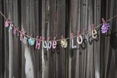 Amour d'espoir de foi Photo stock