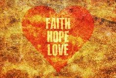 Amour d'espoir de foi Image libre de droits