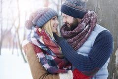 Amour d'hiver images libres de droits