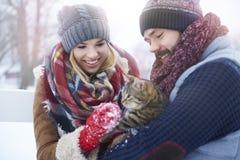 Amour d'hiver Image libre de droits