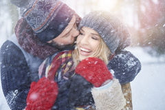 Amour d'hiver Photographie stock