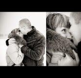Amour d'hiver Photo libre de droits