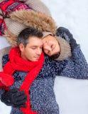 Amour d'hiver de neige Photos libres de droits