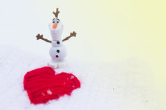 Amour d'hiver le jour de valentines Photos libres de droits