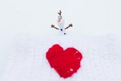 Amour d'hiver le jour de valentines Photographie stock libre de droits