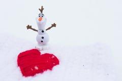 Amour d'hiver le jour de valentines Photographie stock