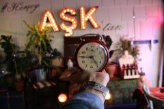 Amour d'horloge Image libre de droits