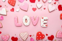 Amour d'inscription Photographie stock libre de droits