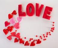 Amour d'inscription Photographie stock