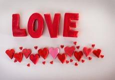 Amour d'inscription Photo libre de droits
