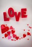 Amour d'inscription Photo stock