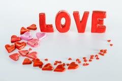 Amour d'inscription Photos stock