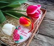 Amour d'inscription de coeur de céramique pour jamais Photo stock