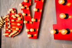 Amour d'inscription fait dans le rétro style Photographie stock libre de droits