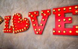 Amour d'inscription fait dans le rétro style Photo stock