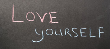 Amour d'inscription vous-même Images libres de droits