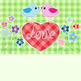 Amour d'oiseaux Images libres de droits