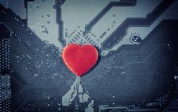 Amour d'ordinateur Image stock