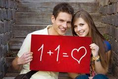 Amour d'étudiants Photo stock