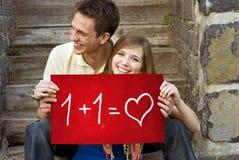 Amour d'étudiants Photographie stock libre de droits