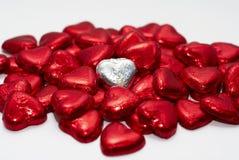 Amour d'un rouge ardent Images libres de droits