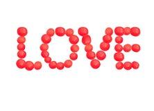 Amour d'un rouge ardent Image stock