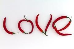 Amour d'un rouge ardent de /poivron Images stock