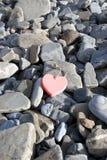 Amour d'un rouge ardent sur les roches Images libres de droits