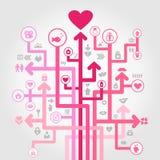 Amour d'une flèche illustration stock