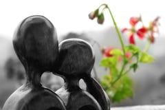 Amour d'une manière en bois Image stock