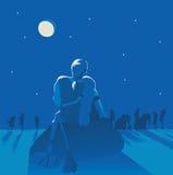 Amour dans l'âge de pierre Images libres de droits