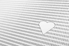 Amour dans l'ère numérique Image stock