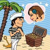 Amour dans l'illustration de vecteur de Venise Images stock