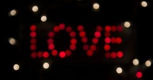 Amour dans l'obscurité - au loin Images libres de droits