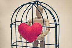Amour dans la cage Images stock