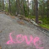 Amour dans la forêt Images libres de droits