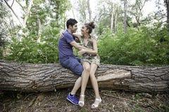 Amour dans la forêt Photo libre de droits